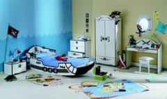 Meubles de chambre à coucher pour enfants et jeunes - White Shark de Demeyere