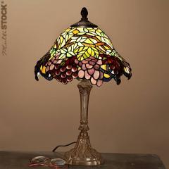Lampes tiffany petites: Grappe de raisin