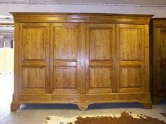 Garde-robe Louis Philippe, en chêne, 4 portes, 4 tiroirs
