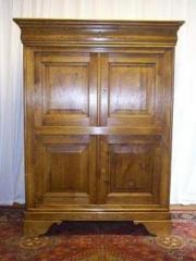 Chiffonnière standard Louis Philippe, en chêne, 4 portes, 1 tiroir