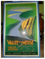 Affiche ancienne de 1900 - Vallee de la Mause