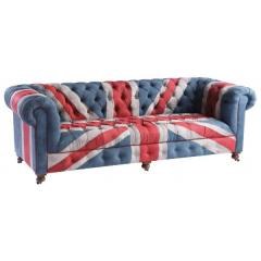 Canapé Chesterfield union jack