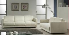 Meubles de salon en cuir Blanc