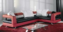 Meubles de salon en cuir Rouge