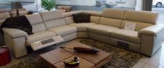 Salon d'Angle (cuir pleine fleur) 2 relax extérieurs manuels