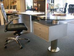 Magnifique bureau métal + verre