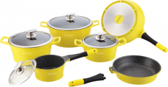 Royalty Line - 14 Pieces Die Cast Cookware Set (ES-Series) // Removable Handle