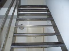 Stairs in stainless steel