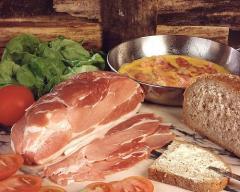 Viande de porc salé Lard au jambon