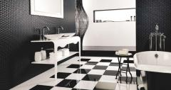 Ceramic tiles. Ace Blanco Negro wall tiles. VENIS