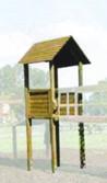 Tour en bois avec toit