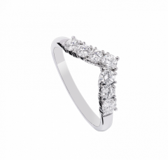 Alliance Lady Diamond Ring en or blanc 18 ct