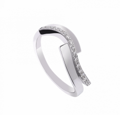 Alliance Lady Diamond Ring torsadee en or blanc 18