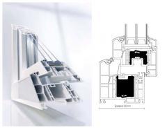 Châssis PVC Geneo . Profilés de fenêtres GENEO
