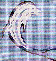 Glass mosaic.Dolphin