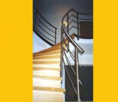 Escaliers en inox