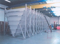 Vertical cylindric tanks.