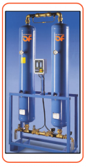 Air dryers with dehumidifier