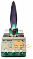 UltraFire: Freedom and all-round safety.  The new safety Bunsen burner - ignites by sensor and requires no cables or gas pipes