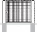 Porte pivotante G avec remplissage treillis soudé