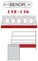 Éléments de plancher en béton armé avec fond isolé I 13 - I 16