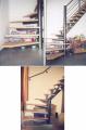 Escalier avec partie tournante en bas