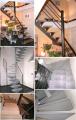 Escalier avec partie tournante au milieu