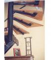 Escalier avec partie tournante en haut