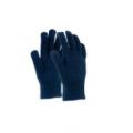 Gants tricotés 100% Acrylique, bleu