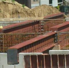 Processing of the steel beams